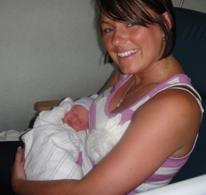 Justine and baby JT.